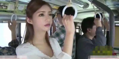 美人過ぎるOLが通勤バスで痴漢に狙われ過ぎ、強制的に素股やフェラやハメられてる【麻生希】