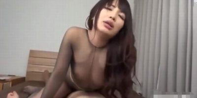 【橘花音】パンストフェチ必見!痴女のチンコ責め